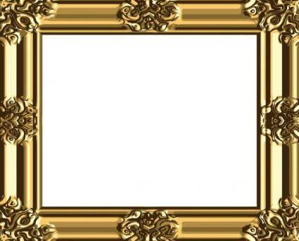 Antique gold frame 03 vector