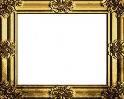 Antique gold frame 04 vector