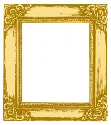 Antique gold frame 05 vector