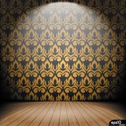 free vector Interior wallpaper 03 vector