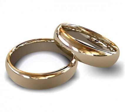 Wedding ring vector 2