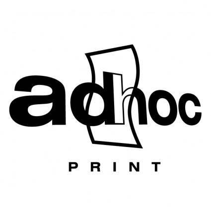 free vector Ad hoc print