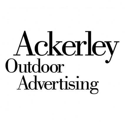 free vector Ackerley outdoor advertising