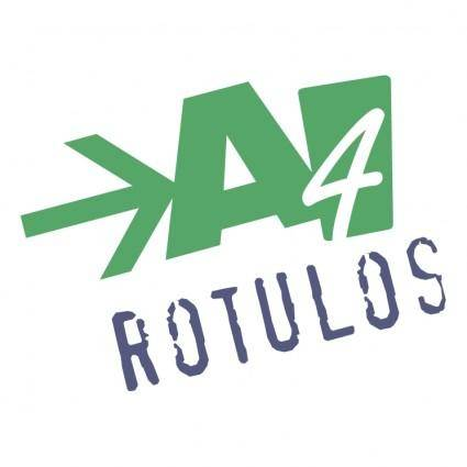free vector A4 rotulos
