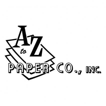 free vector A to z paper