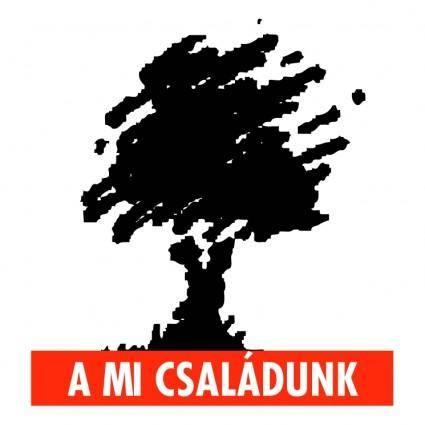 free vector A mi csaladunk
