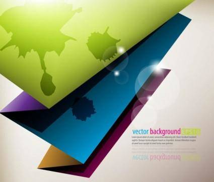 free vector Color paper folding vector