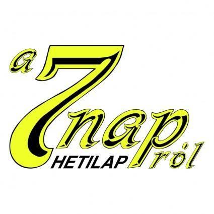 free vector 7 nap hetilap