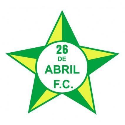 26 de abril futebol clube do rio de janeiro rj