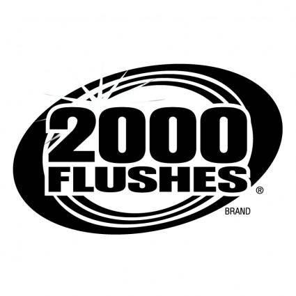 2000 flushes 0