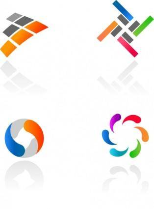 free vector Abstract Colorful Logotypes