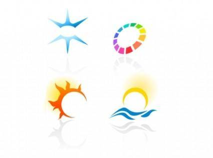 free vector Abstract Colorful Logotypes 2