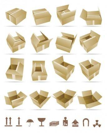 free vector Yellow cardboard 01 vector