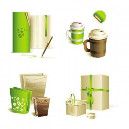 free vector Gorgeous bag with tea 02 vector