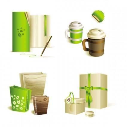 Gorgeous bag with tea 02 vector