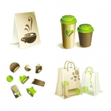 Gorgeous bag with tea 03 vector