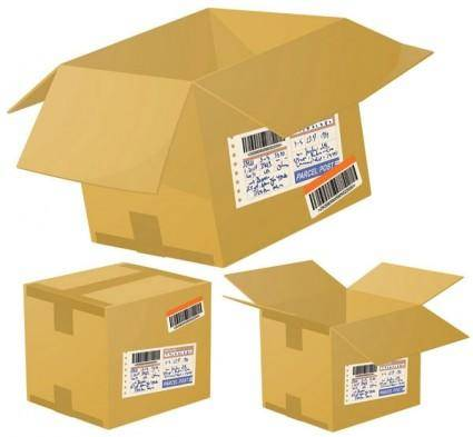 free vector Logistics and express special cartons 01 vector