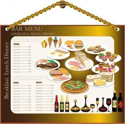 Restaurant menu design 02 vector