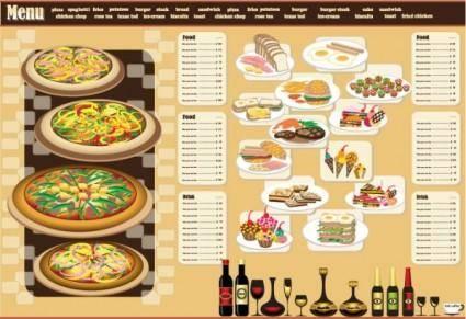free vector Restaurant menu design 03 vector