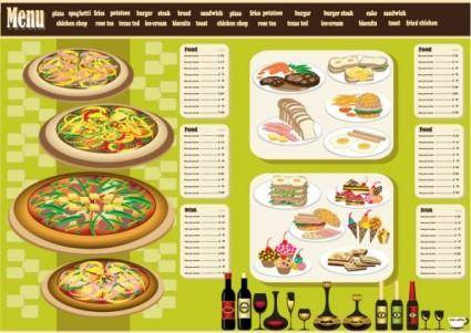 Restaurant menu design 04 vector