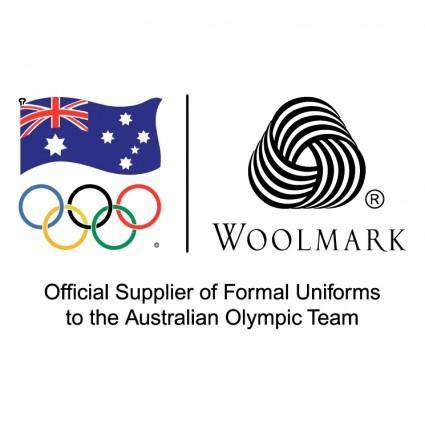 free vector Woolmark official supplier of formal uniforms to the australian olympic team