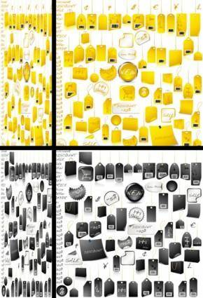 free vector Practical tag vector variety of goods