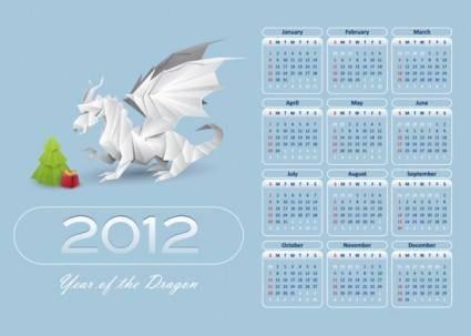 free vector In pterosaurs calendar 2012 02 vector