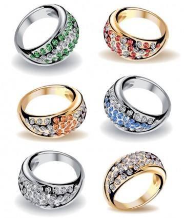 free vector Precious wedding ring 03 vector