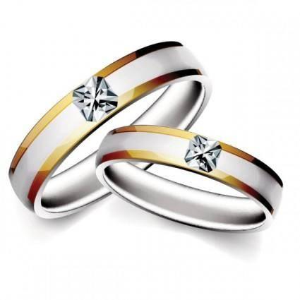 Precious wedding ring 04 vector