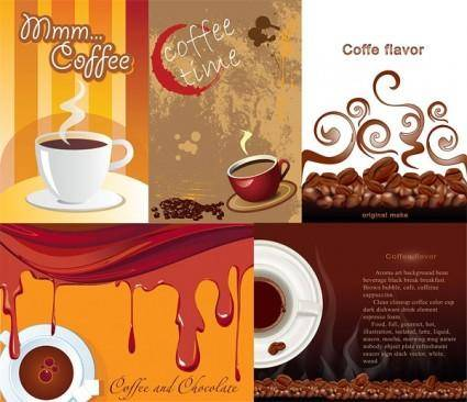 Aromatic coffee theme vector