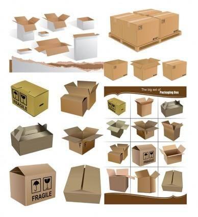 free vector Cardboard boxes vector