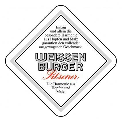 free vector Weissen burger pilsner 0