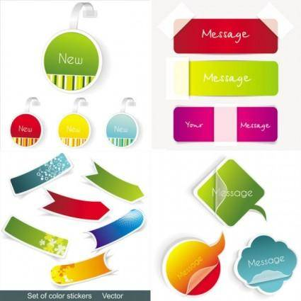Fine and sticky labels vector