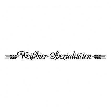 Weibbier spezialitaten