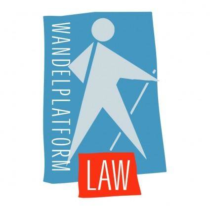 free vector Wandelplatform law
