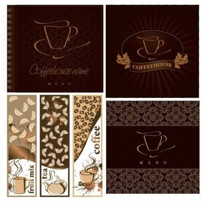 free vector Cafe menu cover vector