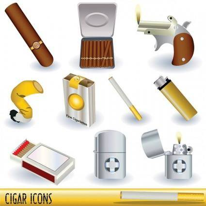 free vector Series vector cigarette lighters