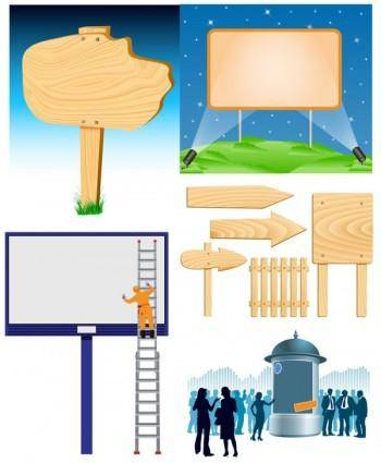free vector Billboards vector