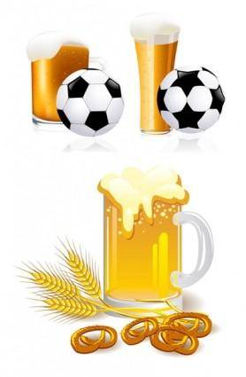 Beer and football vector