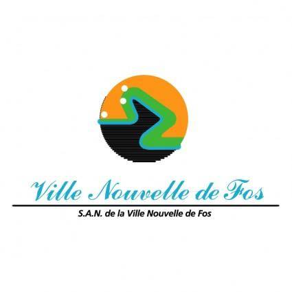 free vector Ville nouvelle de fos