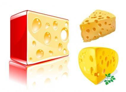 Cheese block vector