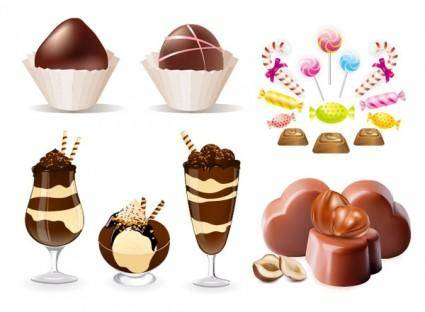 free vector Chocolate candy clip art