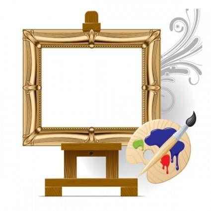 Vector drawing board easel art