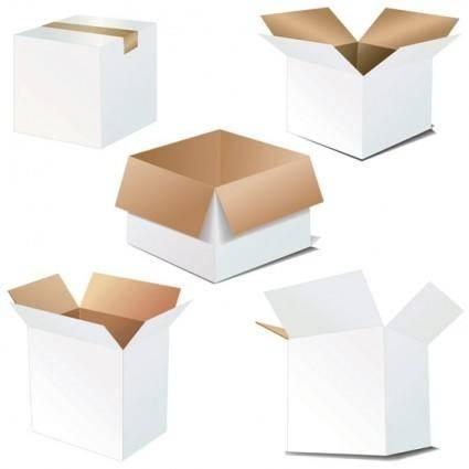 free vector Cardboard carton blank vector