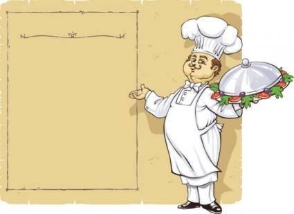 free vector Chef menu vector