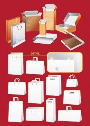 free vector Vector box bag