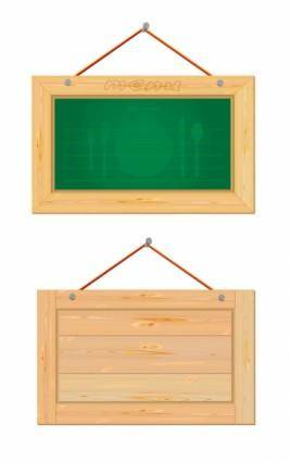 free vector Wood boards vector