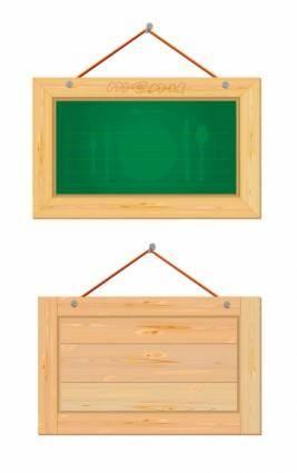 Wood boards vector