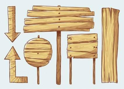 free vector Handpainted wooden style vector