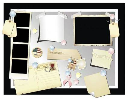 free vector Stationery postcards photos vector